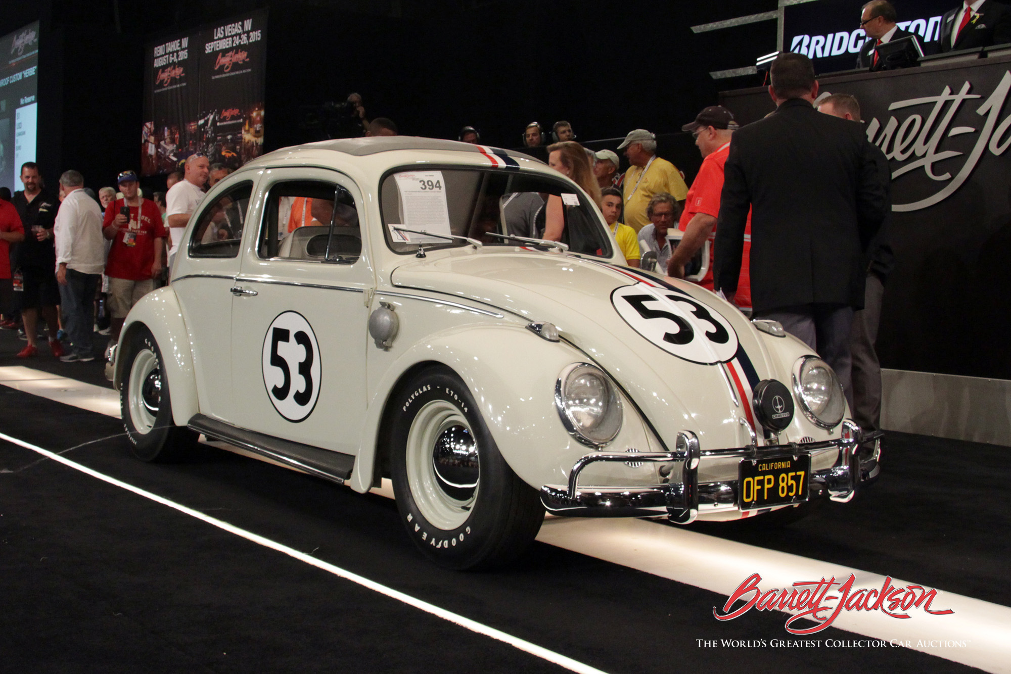 Herbie crosses the Barrett-Jackson block and sets a new world record.