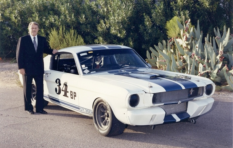Brian Jackson with his treasured 1965 Shelby GT350.