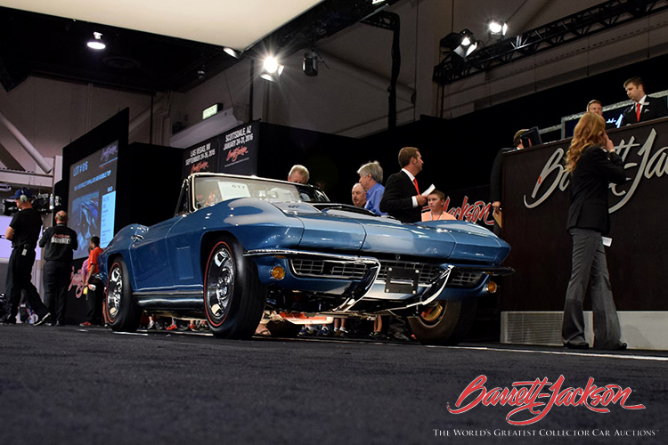 This much-talked-about A.O. Smith-bodied 1967 Chevrolet Corvette 427 Convertible (Lot #617) sold for $214,500.
