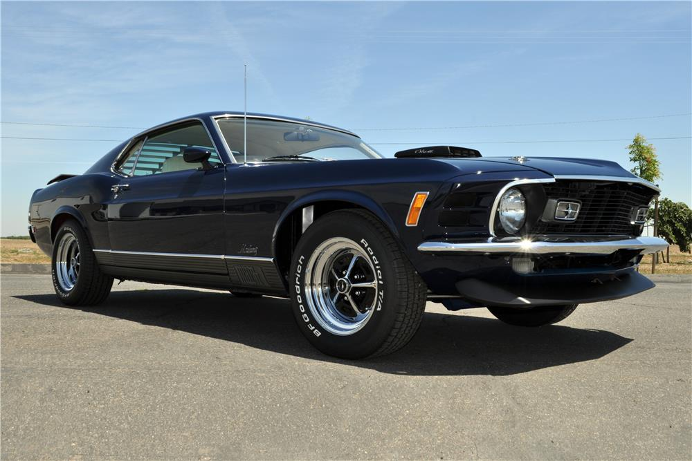 This 1970 Ford Mustang Mach 1 428 Super Cobra Jet (Lot #7002) will cross the Las Vegas block on Saturday, September 26.