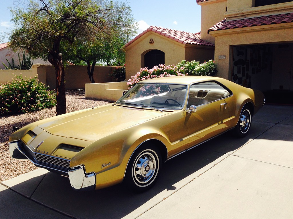 This 1966 Oldsmobile Toronado - now being restored at the Barrett-Jackson Collection Showroom service department - has been in the Jarvi family for more than three decades.