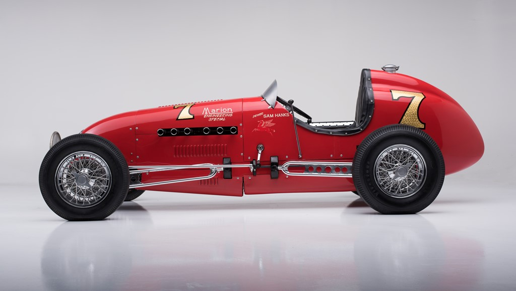 Crossing the auction block in Scottsdale will be this 1948 Kurtis Kraft KK2000 race car (Lot #1280), which appeared five times at the Indianapolis 500.