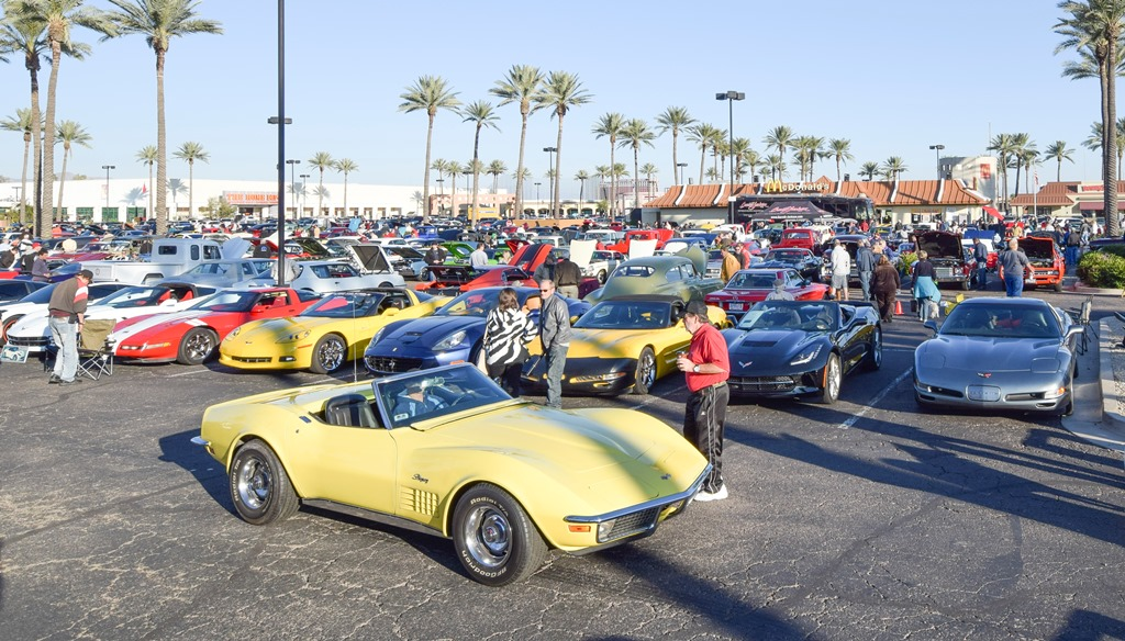 """Car enthusiasts gather at the 2015 Barrett-Jackson Night at the Pavilions. One """"Behind the Hobby"""" Collector Car Symposium will discuss the benefits of car clubs, road rallies, car show and competitions."""