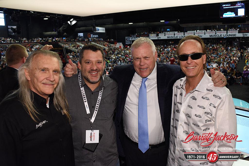 Gary Bennett, Tony Stewart, Craig Jackson and Steve Davis.
