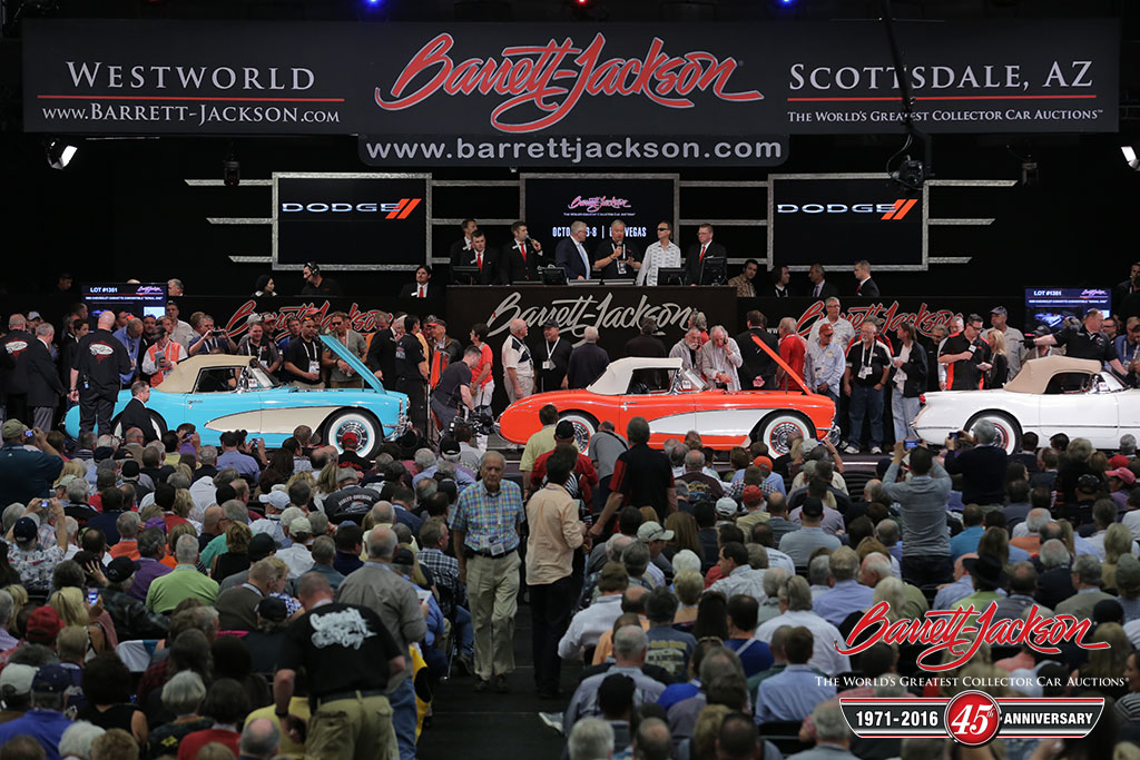 """1957 (Lot #1353), 1956 (Lot #1352) and 1955 (Lot #1351 Chevrolet Corvette Convertibles """"Serial One"""" - Trio sold for $1,815,000"""