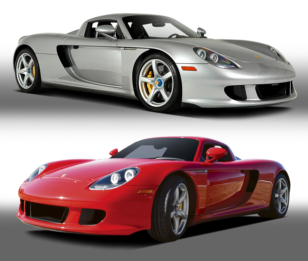 Two stunning Porsche Carrera GTs - a 2004 model (Lot #428, top) and a 2005 model (Lot #400) - will be starring on the Barrett-Jackson Palm Beach auction block in April.