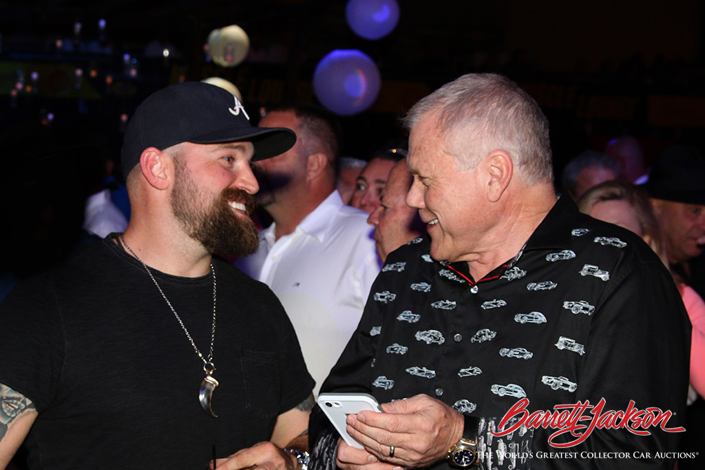 Country music artist Zac Brown shares a laugh with Craig Jackson at the Opening Night Gala.
