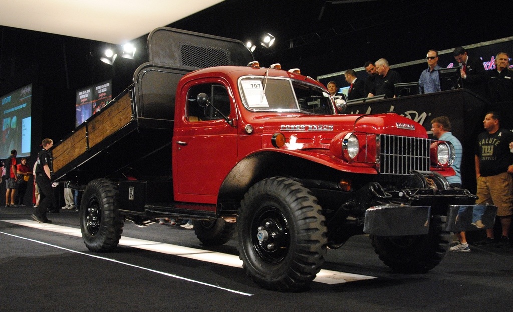 The 2016 Palm Beach Auction featured this dump-style1957 Dodge Power Wagon (Lot #707).