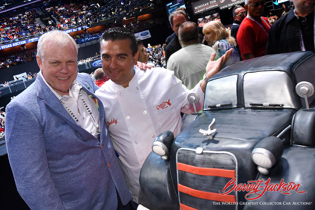 """Cake Boss""  Buddy Valastro surprised Craig Jackson with a cake that is a replica of a car his mother, Nellie Jackson, once owned."