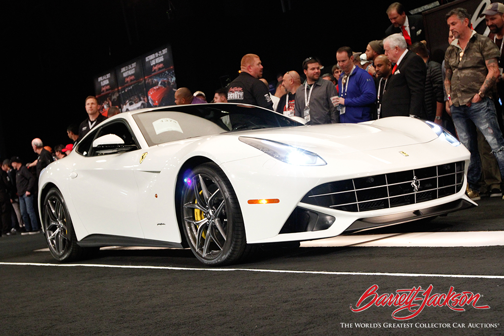 A stunning white 2015 Ferrari F12 Berlinetta Lot #1374) went to its new home for $330,000 - making it one of the auction's top 10 sellers.