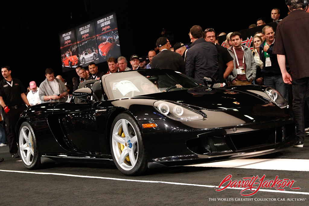 Sold! This 2005 Porsche Carrera GT (Lot #1396) brought in $616,000.