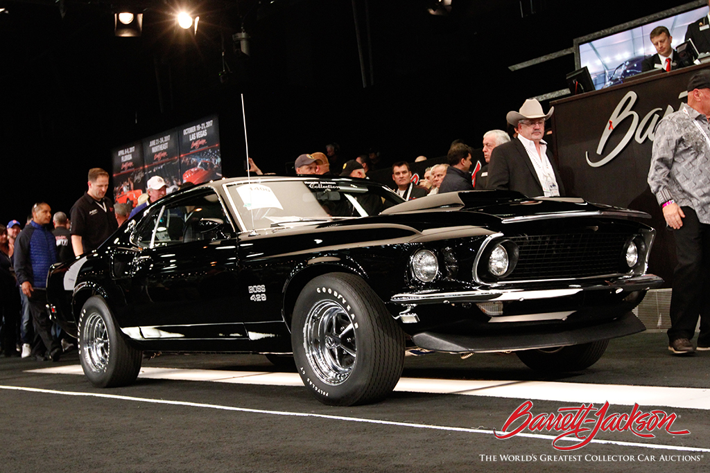 This 1969 Ford Mustang Boss 429 (Lot #1400) - part of the Reggie Jackson Collection - sold for $385,000.