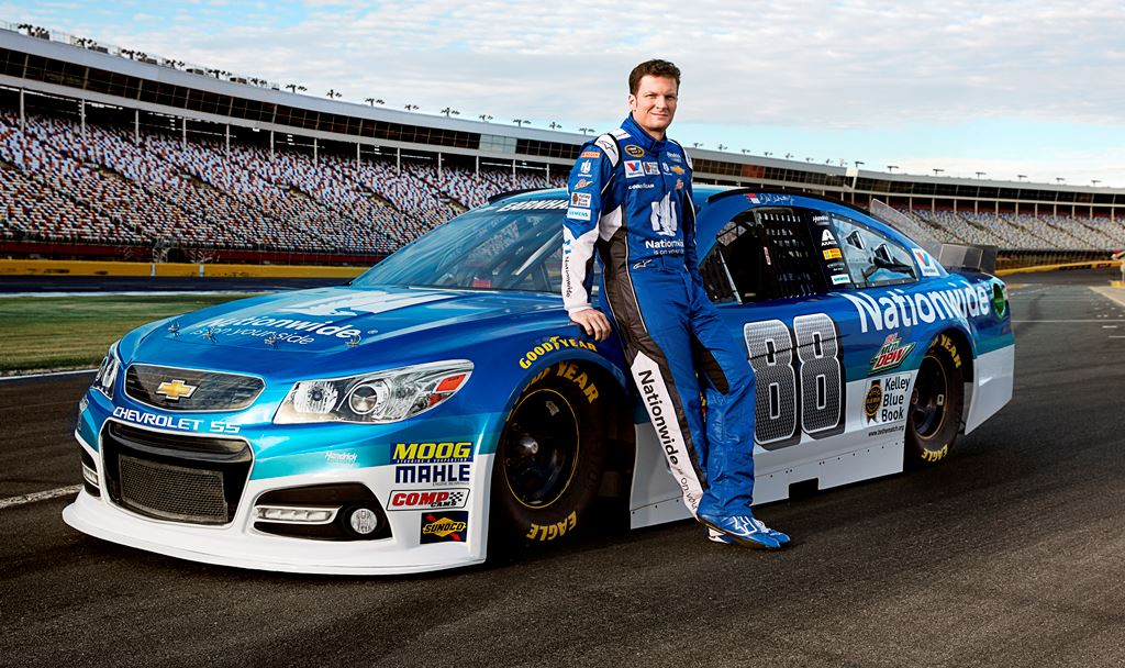 NASCAR great Dale Earnhardt Jr. will be visiting Barrett-Jackson for the first time to help auction two cars, including his 2014 Chevrolet #88 race car (Lot #3006.1).