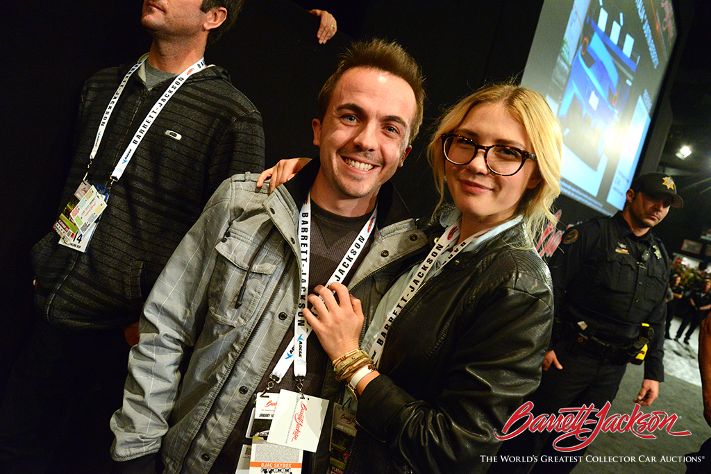 Actor Frankie Muniz is a regular fixture at a Barrett-Jackson Scottsdale Auction.