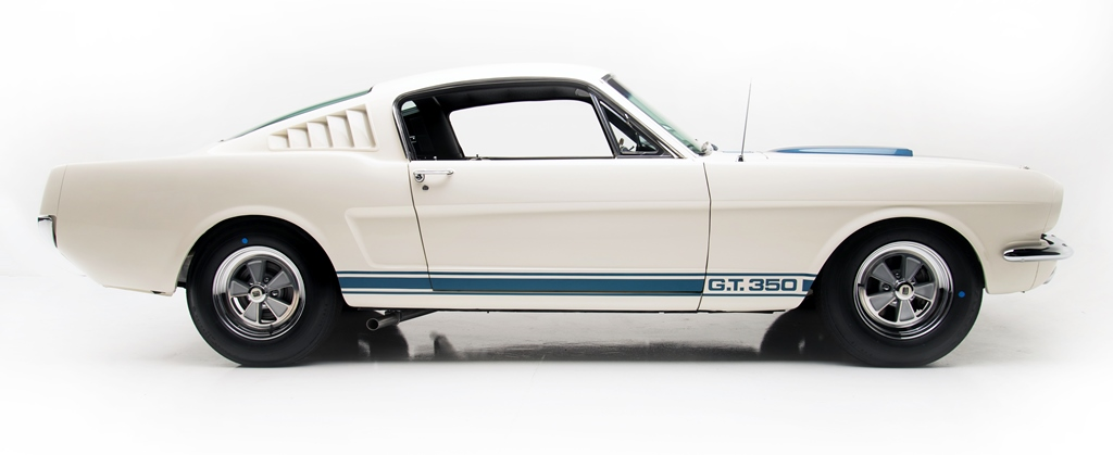 Ready for the auction block at Scottsdale: Lot 1365, a 1965 Shelby GT350 Fastback.