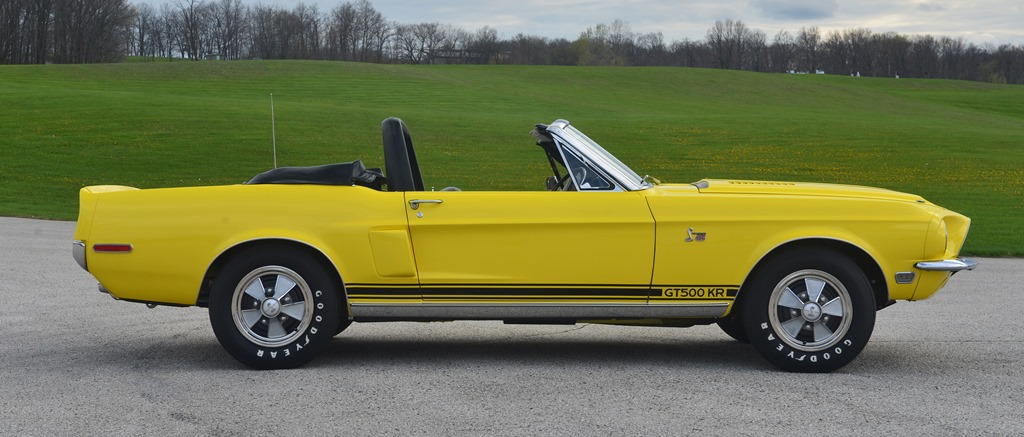 Lot #1368 - a 1968 Ford Shelby GT500KR once owned by tennis great Jimmy Connors.