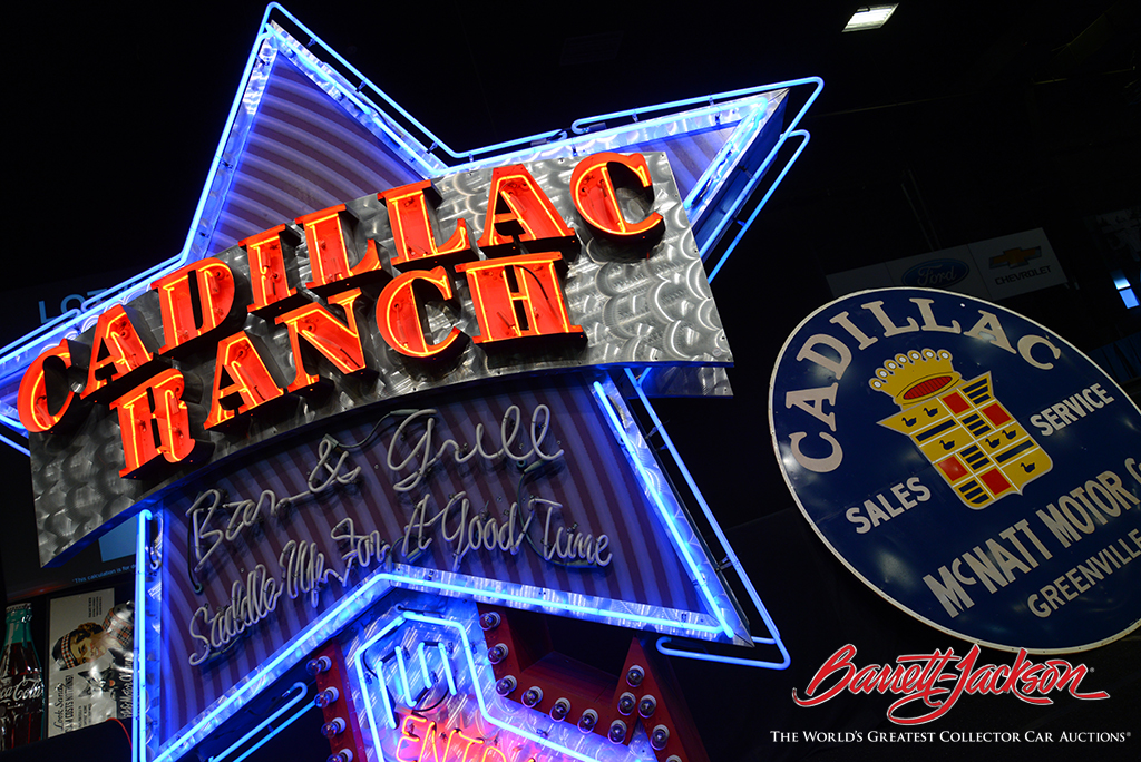 Brilliantly colored neon signs are always among the top sellers at Barrett-Jackson's Automobilia Auctions.
