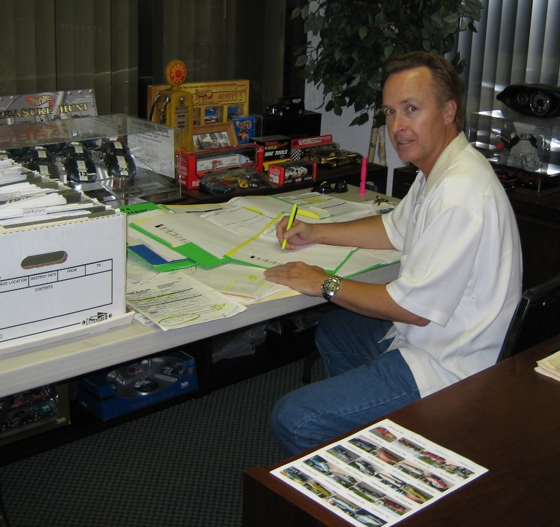 Steve in his office reviewing consignment applications, 2005.