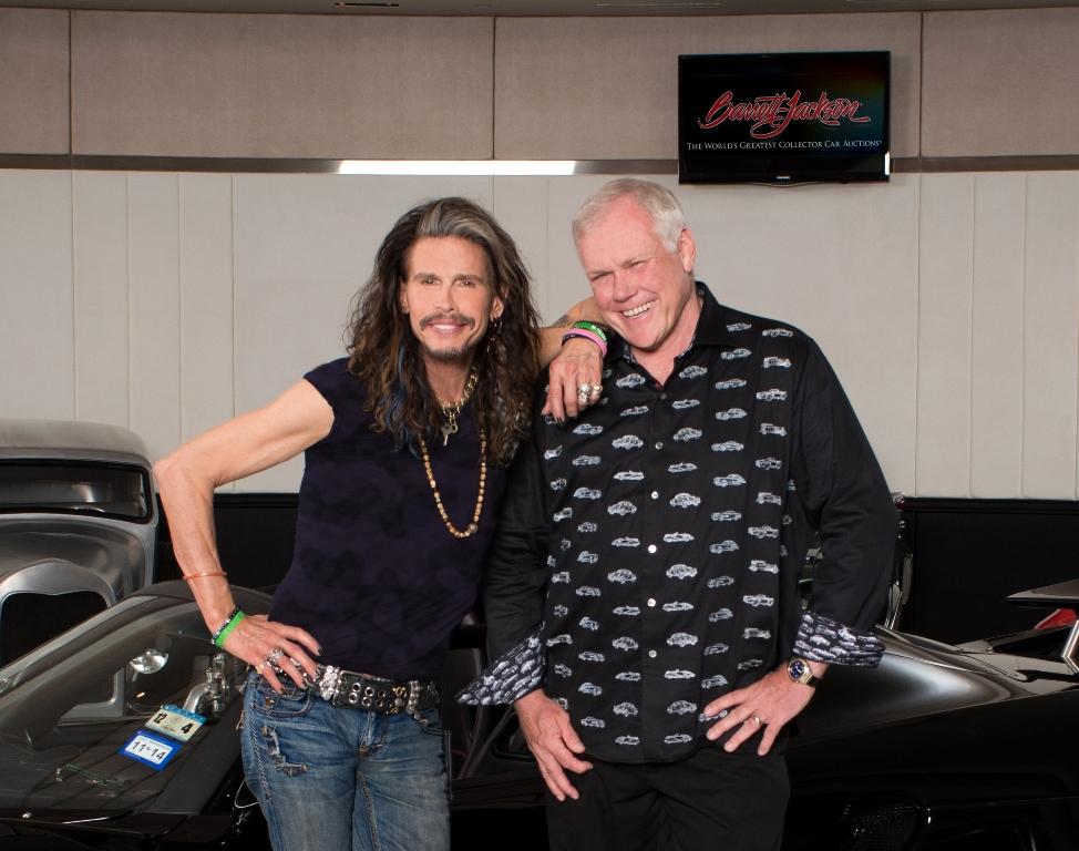 Rock legend Steven Tyler with Craig Jackson.