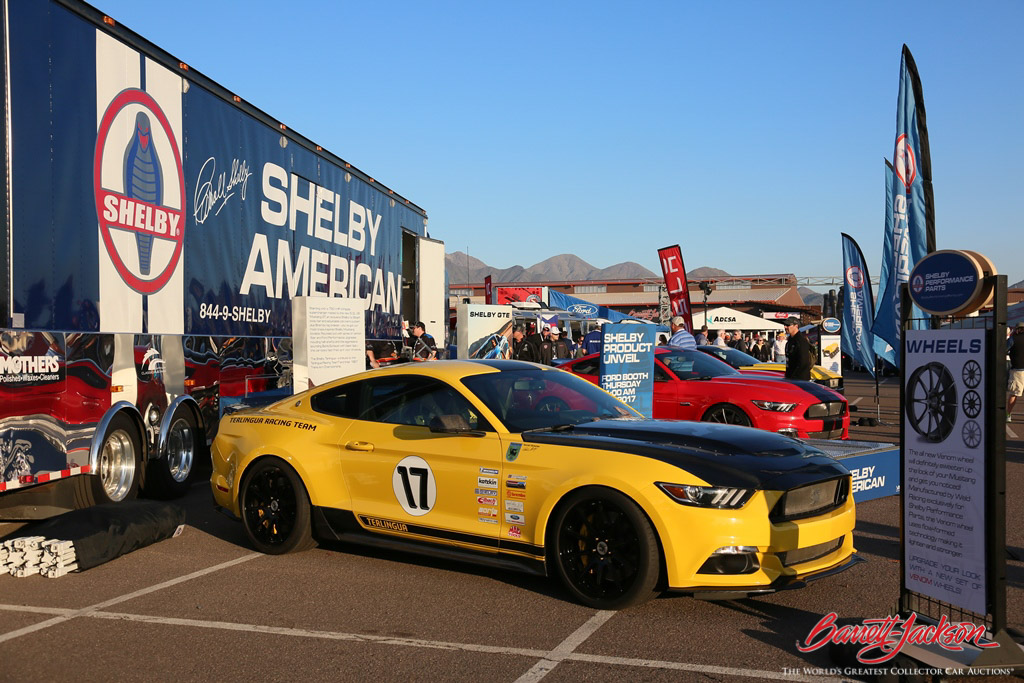 Shelby American's display at the 2017 Scottsdale Auction.
