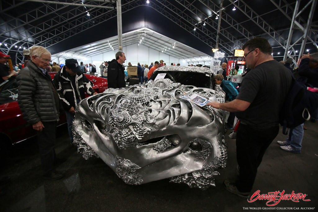 A wild 3D-printed liquid-metal Ford Torino (Lot #7001) attracted a lot of attention from incredulous guests at this year's auction.