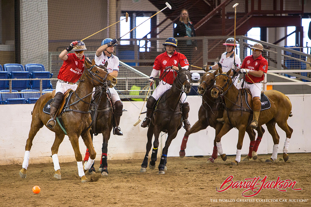 Arena Polo action provided another type of horsepower during the auction's first weekend.