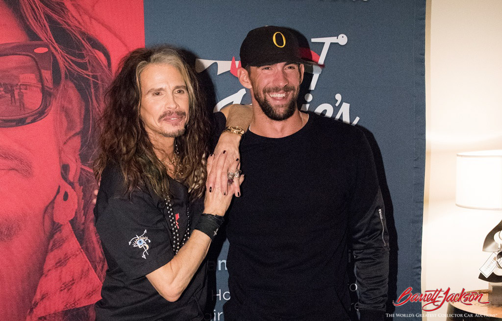 Rock and Roll Hall of Famer Steven Tyler with Michael Phelps, the most decorated Olympic athlete of all time.