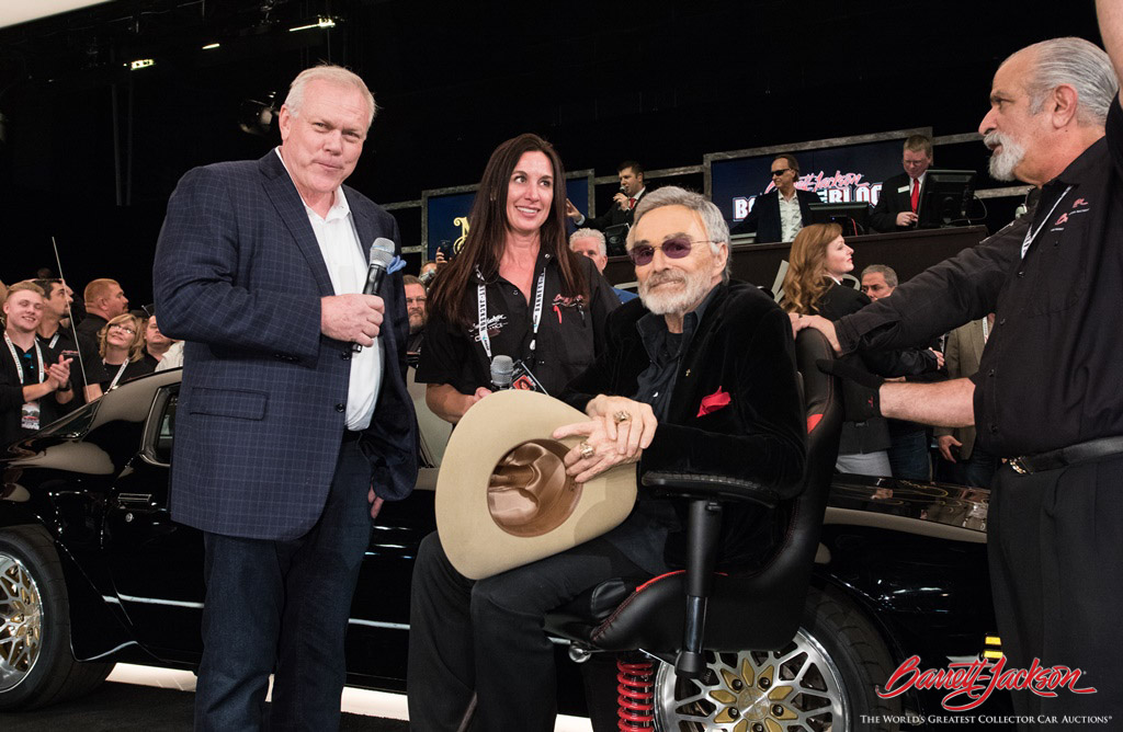 Actor Burt Reynolds was back for the second year in a row, this time with his personal 1978 Pontiac Firebird Custom Coupe (Lot #1401), which sold for $275,000, a world record at auction.