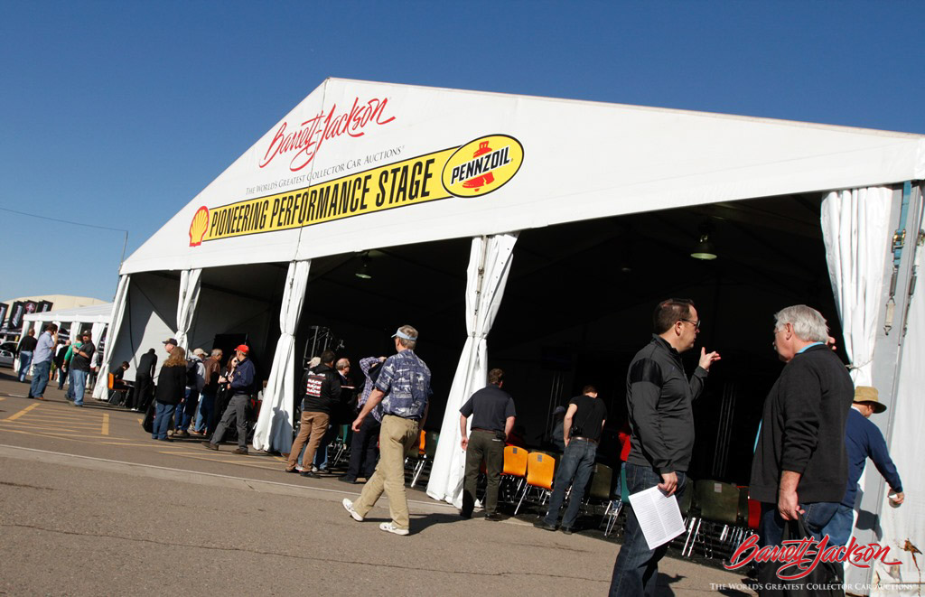 A new feature at this year's Scottsdale auction was the Shell Pennzoil Pioneering Performance Stage, where visitors could get in-depth looks from experts at many cars and aspects of the collector car hobby.