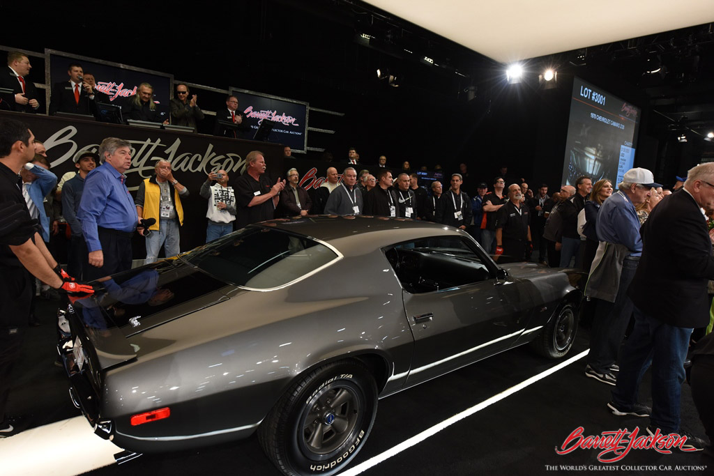 A rare 1970 Chevrolet Camaro Z/28 (Lot #3001) came to the block to benefit Childhelp, a charity near and dear to the heart of Barrett-Jackson. The car sold for $130,000, all of which went to the very worthy cause.