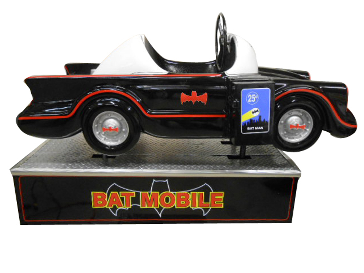 Holy kiddy ride, Batman! This coin-operated Batmobile ride from the 1960s (Lot #5974) zoomed into popularity because of the TV show, and it's been restored to perfection and works beautifully.