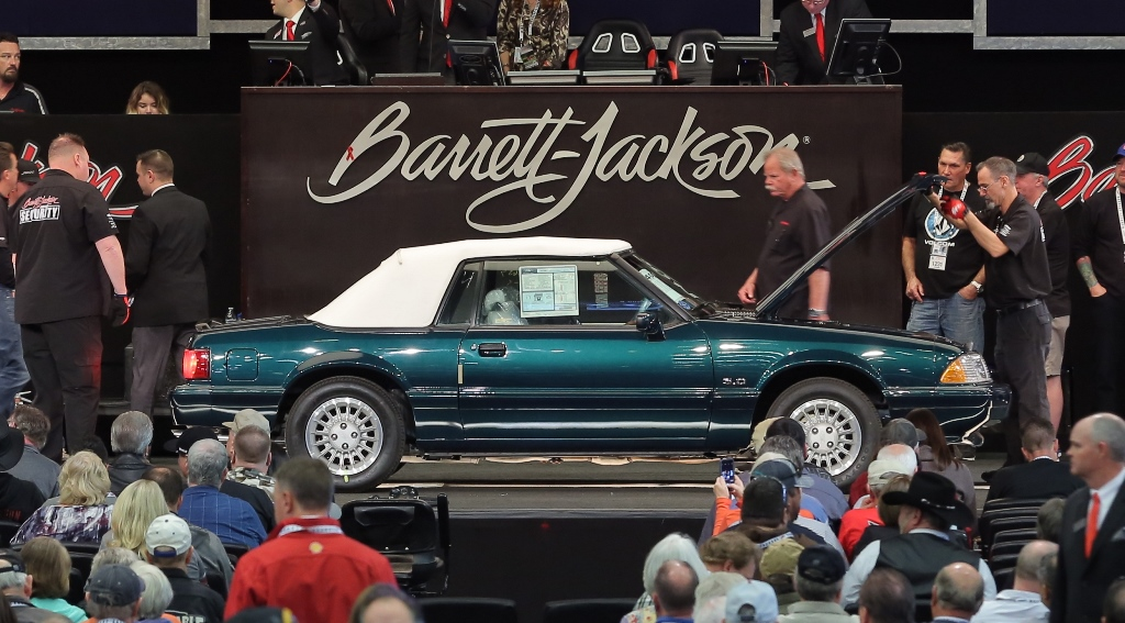 A number of Fox-body Mustangs set new records at the 2017 Scottsdale Auction, including this  1990 model (Lot #400.5), which sold for $82,500.
