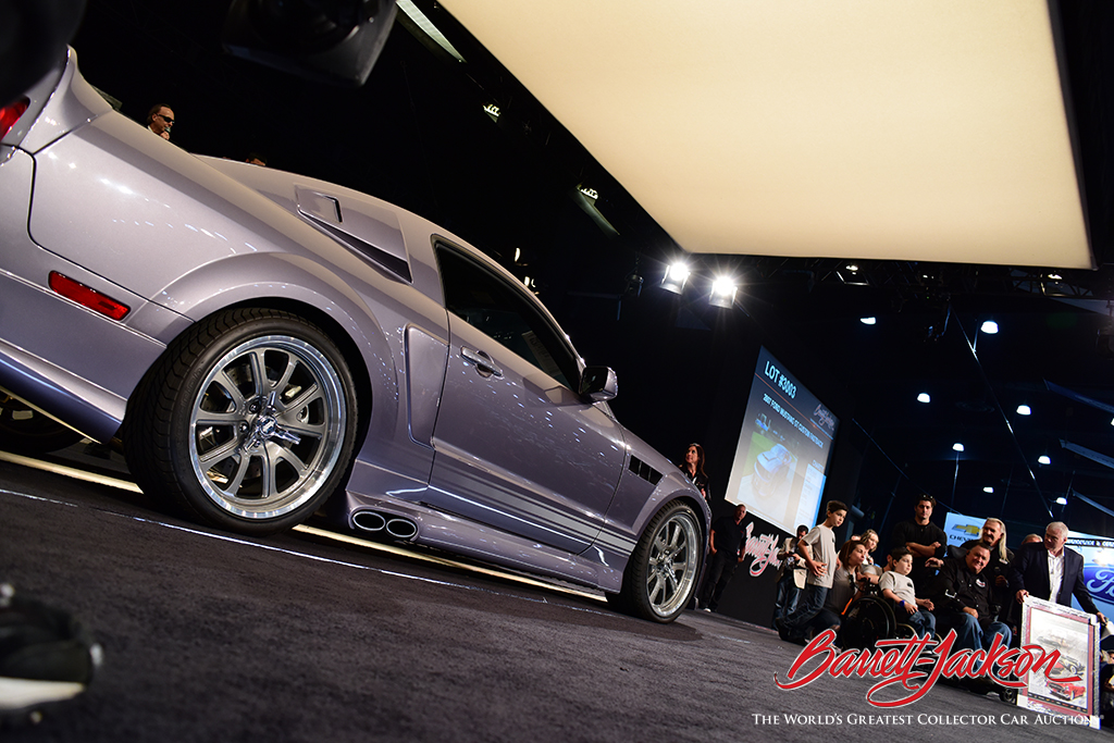 Lot #3003, a 2007 Ford Mustang GT Custom Fastback, sold for $75,000 to benefit the Darrell Gwynn Chapter of the Buoniconti Fund to Cure Paralysis.