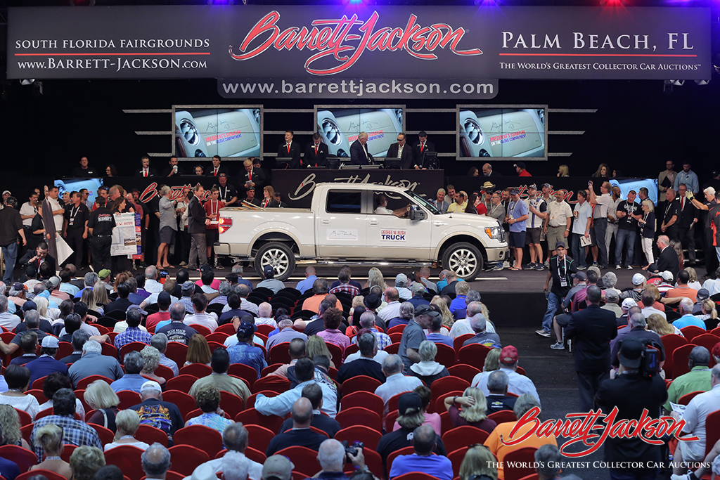 President George W. Bush's 2009 Ford F-150 King Ranch Super Crew Pickup (Lot #3004) sold for $90,000 in support of the Higher Calling Wrestling Club, Inc., in Tennessee, and the Dan Gable Museum in Waterloo, Iowa.