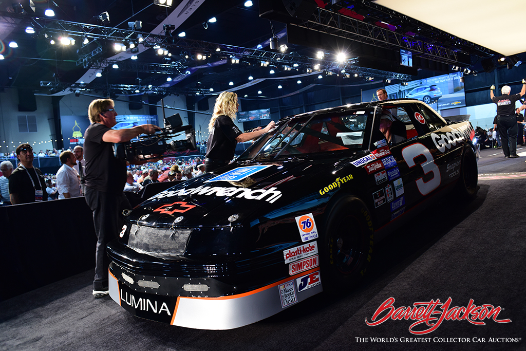 LOT #648 - DALE EARNHARDT'S #3 GOODWRENCH 1989 CHEVROLET LUMINA RACE CAR - sold for $220,000 – A NEW WORLD RECORD AT AUCTION.