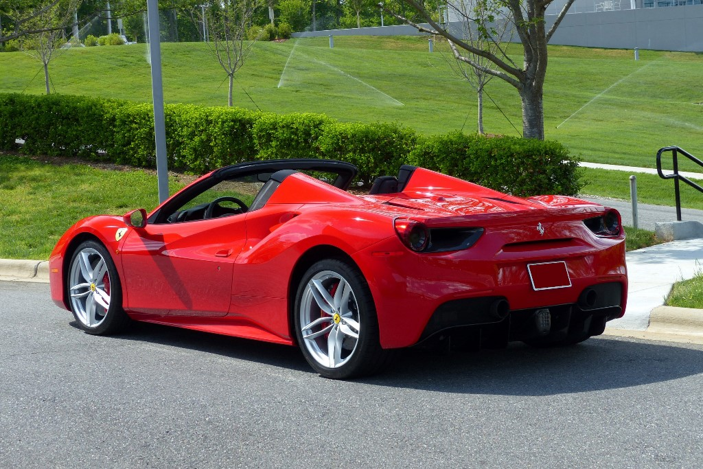 2017 Ferrari 488 Spider_rear34