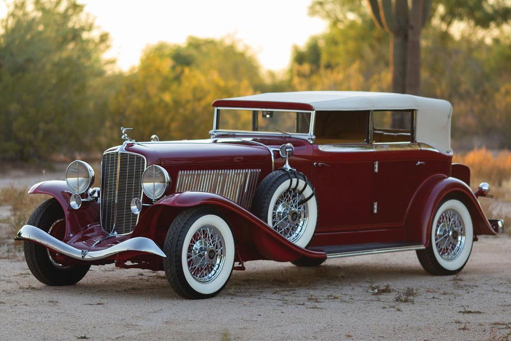 1933 Auburn 12 161A Salon Phaeton Convertible - $165,000