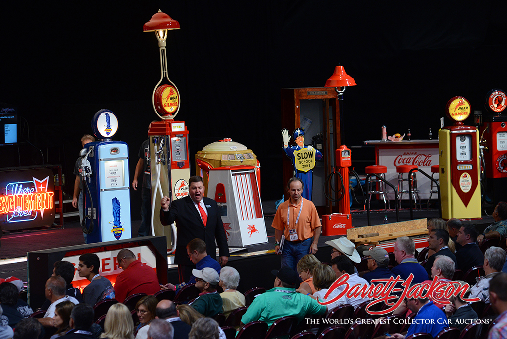 Automobilia onstage at this morning's auction.