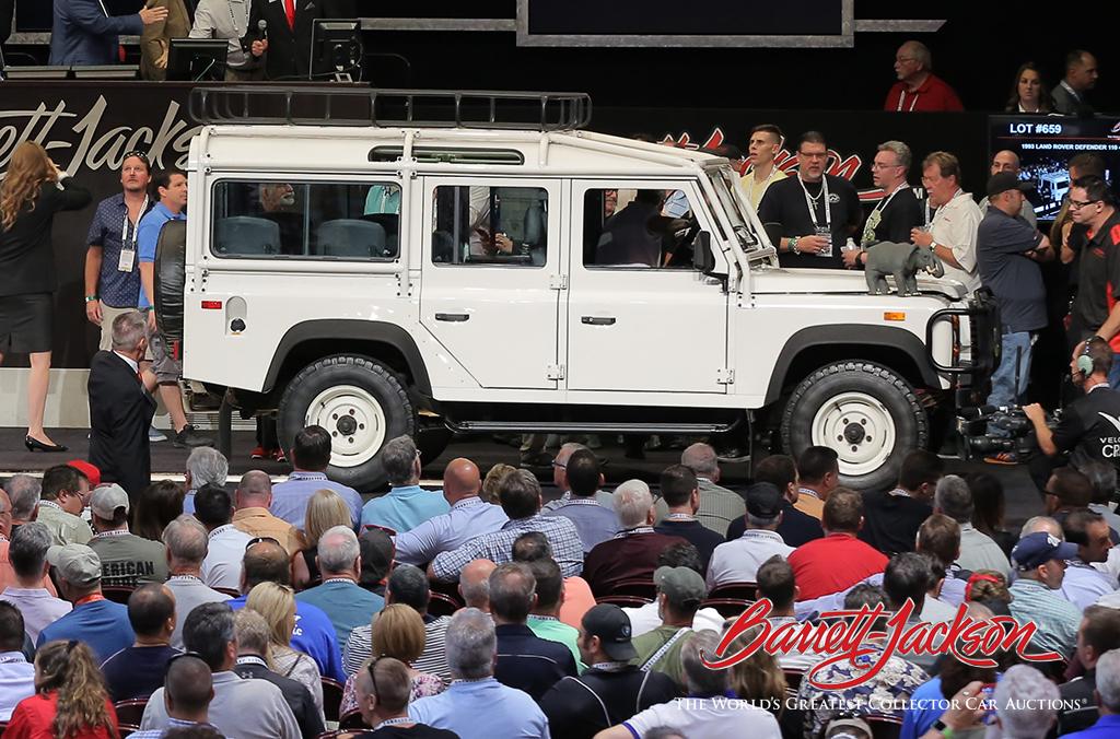 Lot #659 - 1993 LAND ROVER DEFENDER 110 4X4 SUV - $114,400 (new world record)