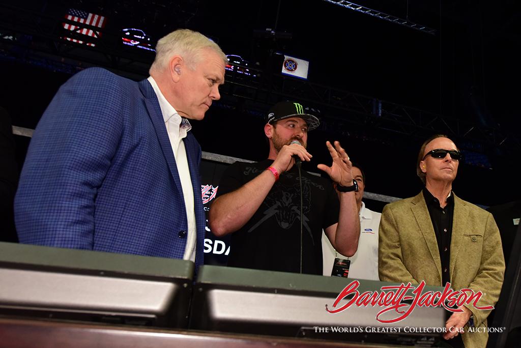 World champion drifter Vaughn Gittin Jr. on the block with Craig and Steve.