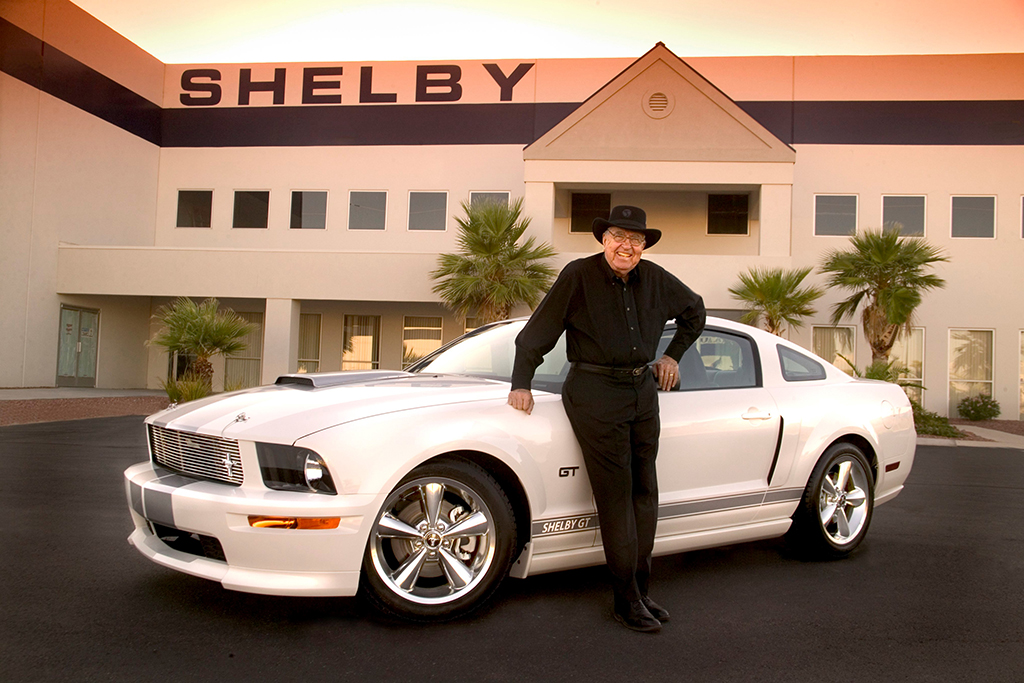 Carroll Shelby with the 2007 Shelby GT Concept Car #1, which is headed for the Barrett-Jackson auction block in Las Vegas.