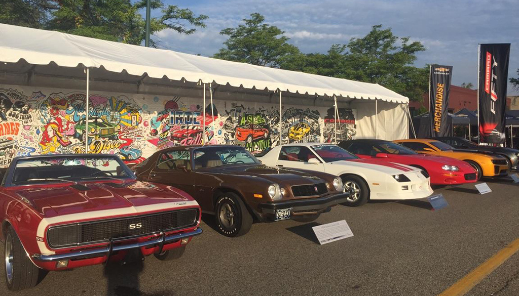 The Chevrolet display at the 2016 Woodward Dream Cruise.