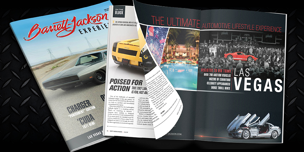 The Barrett-Jackson Experience magazine is published four times a year, leading up to each of the company's auctions.