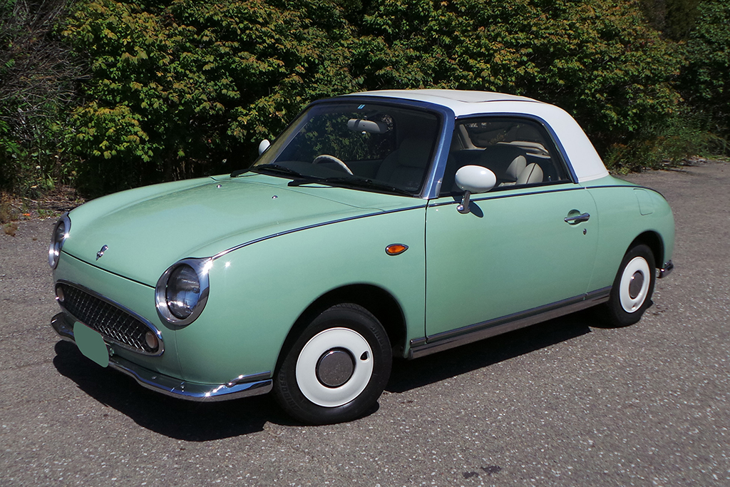 This rare 1991 Nissan Figaro (Lot #105) will be among the microcars crossing the block at the 2017 Barrett-Jackson Las Vegas Auction.