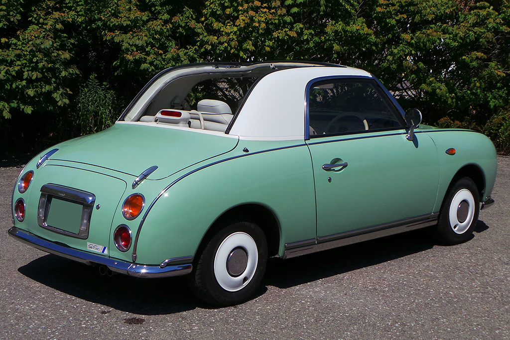 Lot 105 - 1991 Nissan Figaro Convertible_rear_3-4
