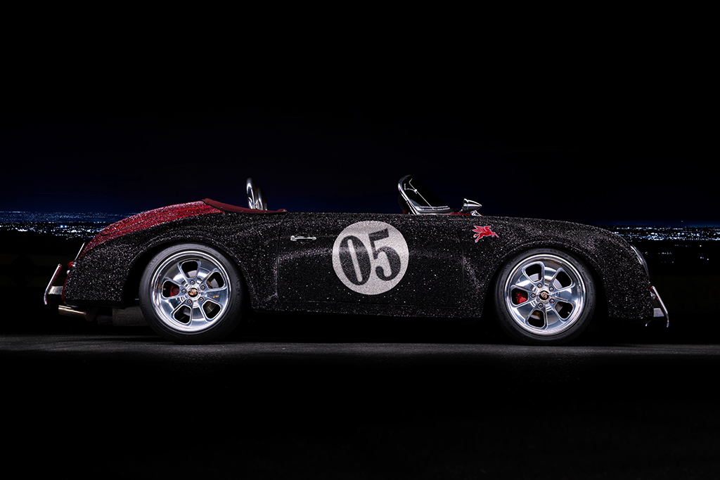 Lot #636 - Swarovski-crystal-encrusted 1956 Porsche Speedster Outlaw Re-creation