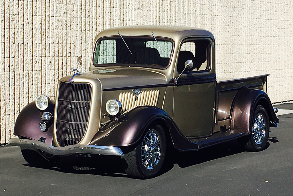"Lot #646 - 1935 Ford Model A Custom Pickup known as ""Ford-a-lac"" - with a 300hp fuel-injected Cadillac V8 engine"