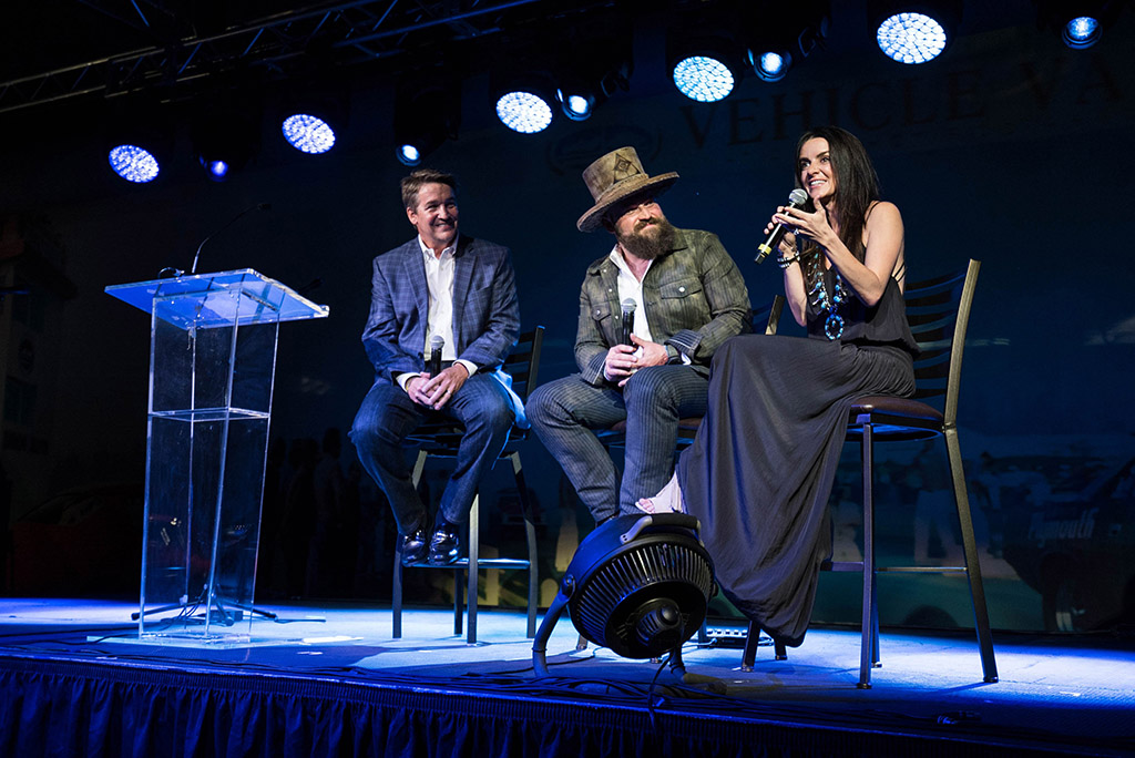 Camp Southern Ground President and CEO, Mike Dobbs. Zac and Shelly Brown in July 2017 at Zac Brown's Exclusive Birthday Event at the Vehicle Vault in Parker, Colorado. The event raised almost $1 for Camp Southern Ground.