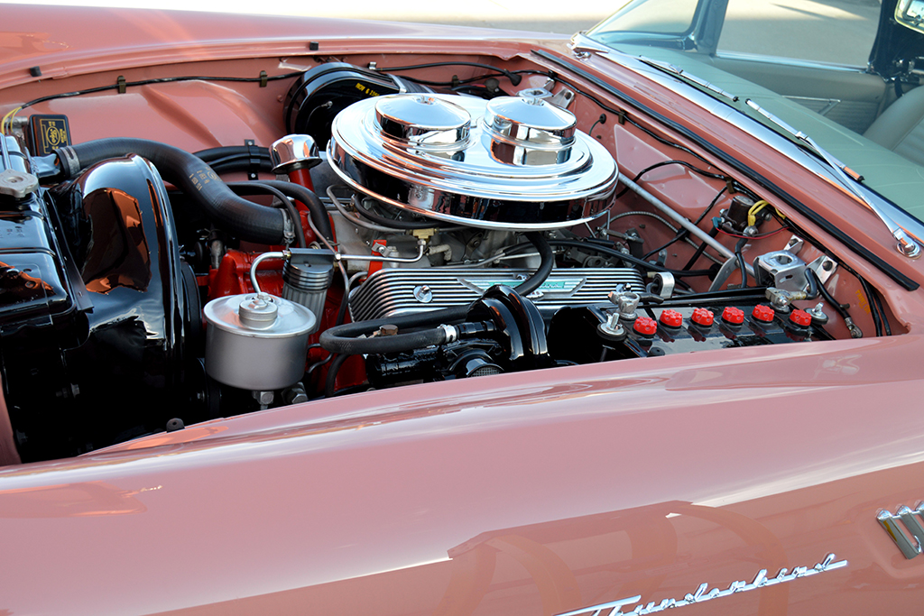 1957 Ford Thunderbird E-Code Convertible engine for sale classic car auction Scottsdale