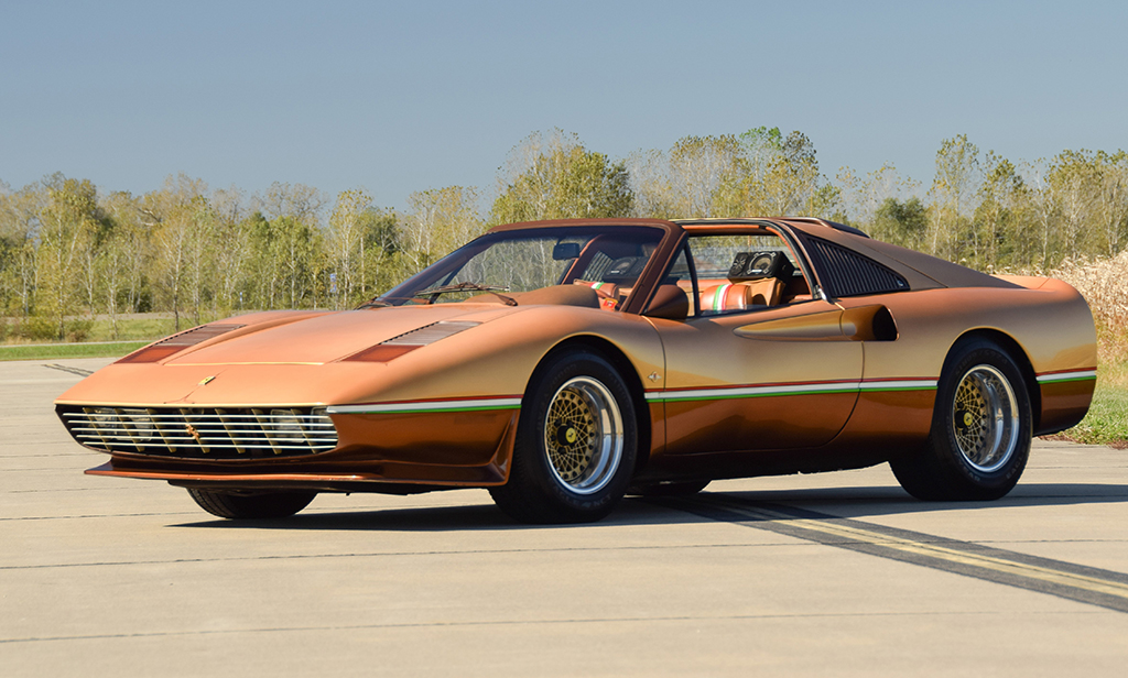 "A Prancing Horse of a different color! This 1978 Ferrari 308 GTS (Lot #1379) belonged to ""King of Kustomizers"" George Barris and is full of his signature touches."